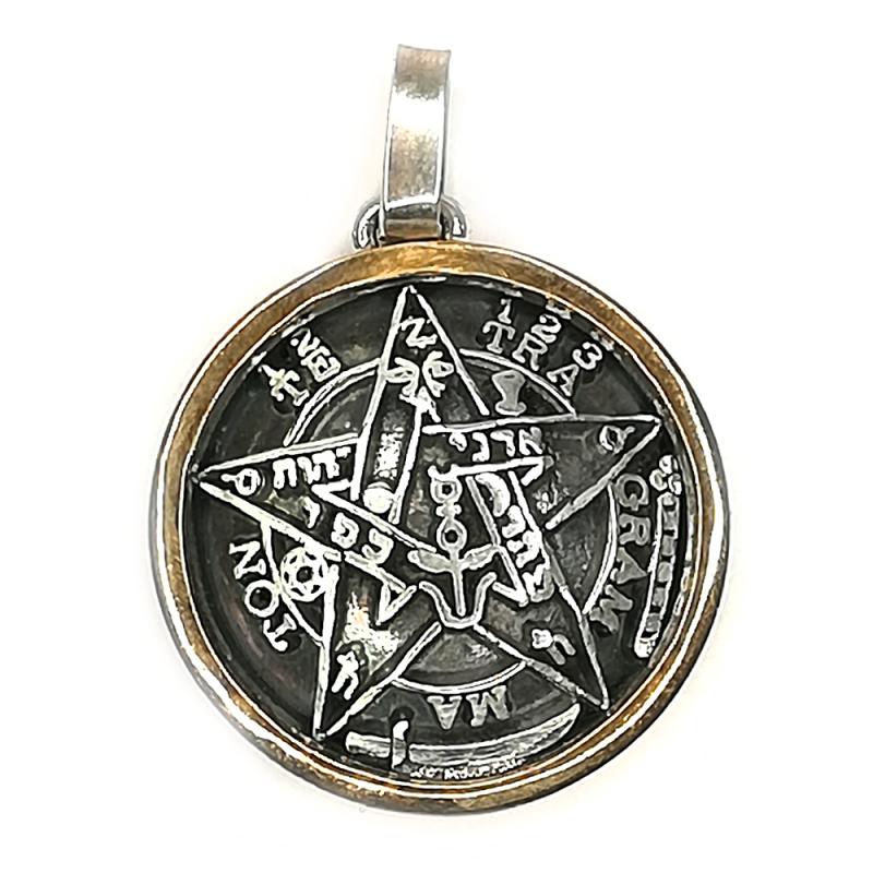 SAN42 Medalla de San Benito en plata. 1.5 cm.