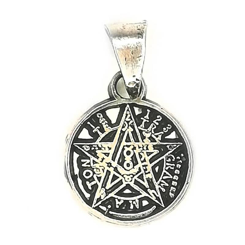 SAN42A Medalla de San Benito en plata. 1 cm.