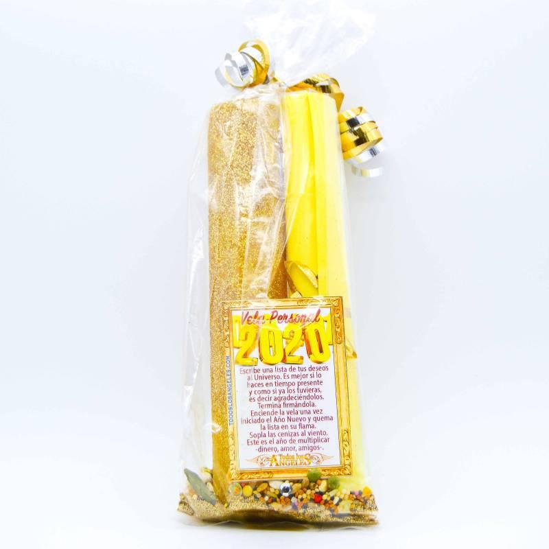 Buda de la salud dorado. 27 cm